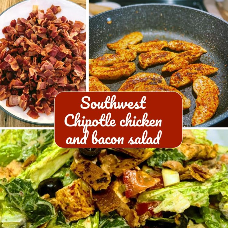 A delicious smokey and spicy southwest chipotle salad