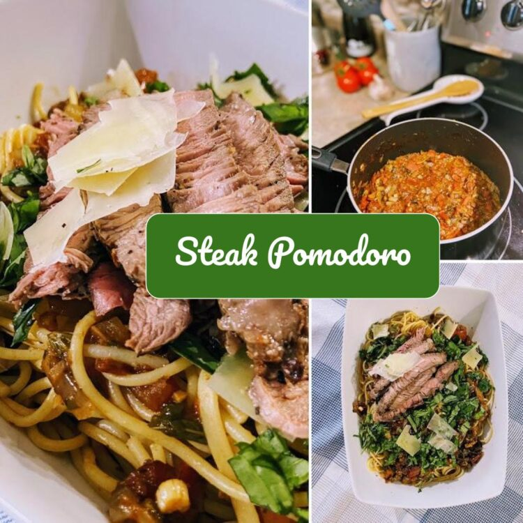 Made with fresh seasonal ingredients, Steak Pomodoro is a pasta that is perfect for summer